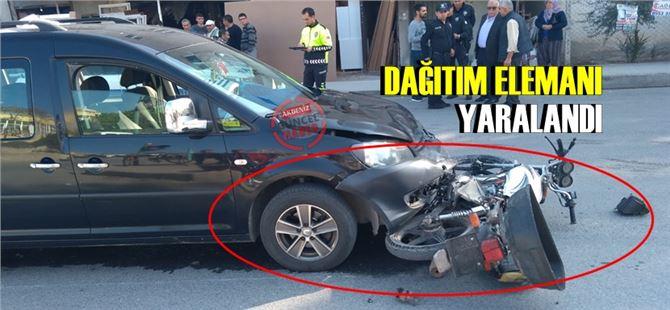 Tarsus'ta kaza, yemek dağıtım kuryesi yaralandı