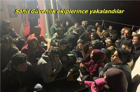 Mersin'de 52 kaçak göçmen yakalandı