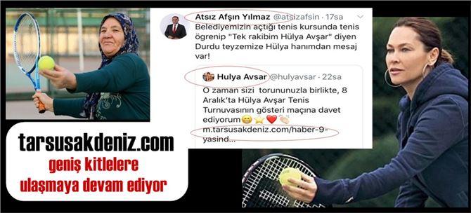 Başkan Yılmaz'da, Hülya Avşar'ın tarsusakdeniz.com 'lu paylaşımını, paylaştı!