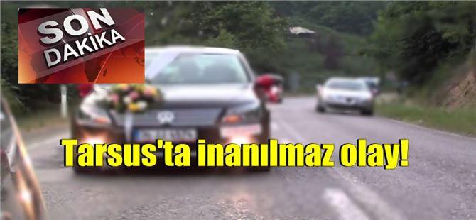 Tarsus'ta gelin arabasının önünü kestiler, damadı bıçakladılar