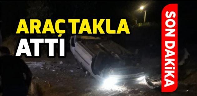 Tarsus'ta otomobil takla attı; 1 ağır yaralı