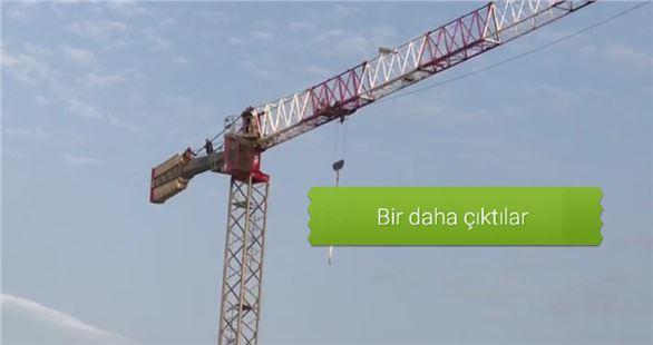 Tarsus'taki havaalanı inşaatında yine intihar girişimi