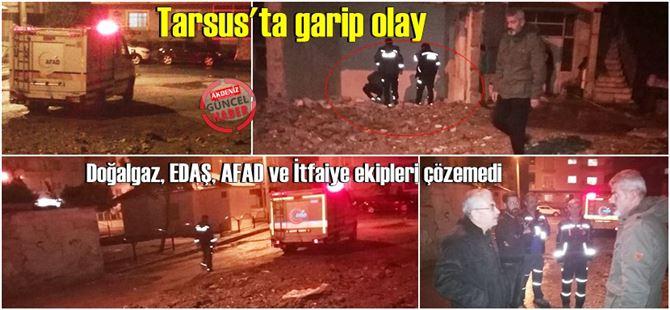 Tarsus'ta bir kısmı yıkık evin altından ısı geliyor; nedeni belli değil