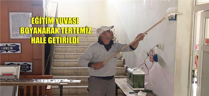 Büyükşehir Belediyesi'nden Kulak Ortaokulu'nda boyama çalışması