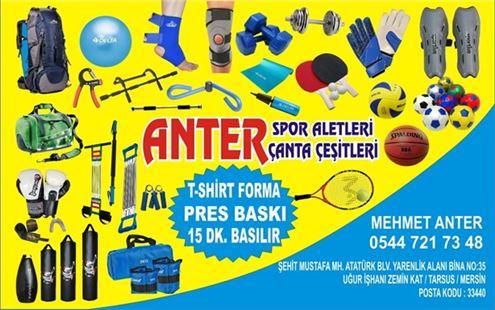 Tarsus Anter Spor Aletleri, Çanta Çeşitleri