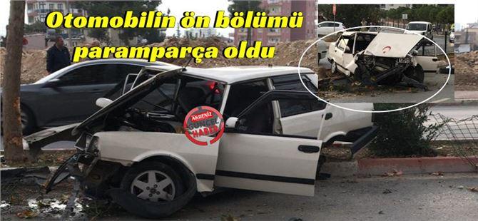 Tarsus kent merkezinde feci kaza