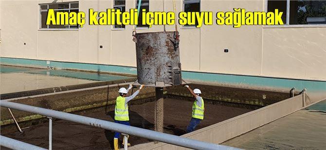 Tarsus'taki tesiste filtre kumlarının değişimi yapıldı