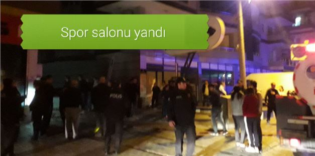 Tarsus'ta özel spor salonunda yangın