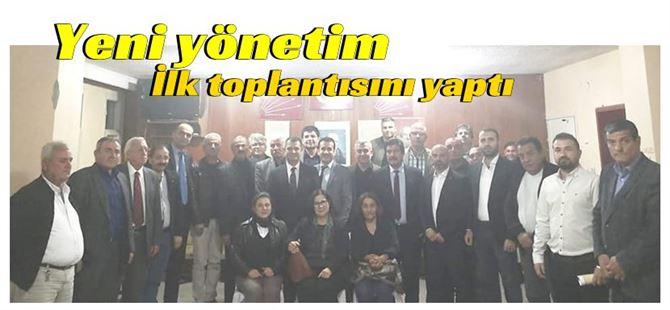 Ozan Varal başkanlığında CHP ilçe yönetimi ilk toplantısını yaptı