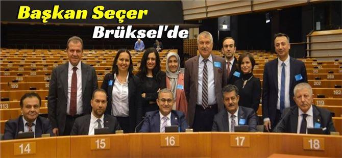 Başkan Vahap Seçer, Brüksel'de çalışma ziyareti gerçekleştirdi