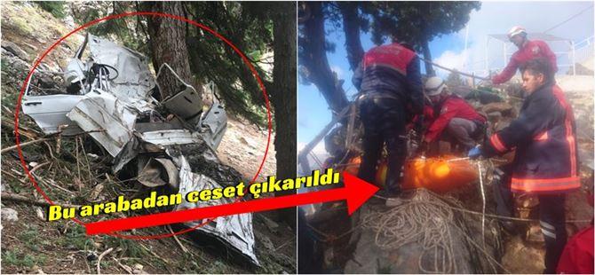 Çamlıyayla'da 200 metre uçurumdan ceset çıkarıldı