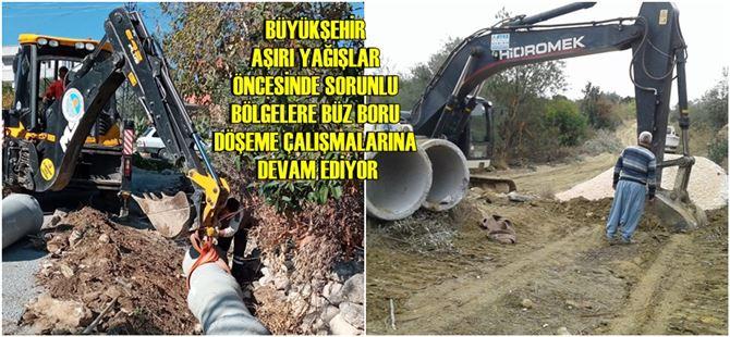 Tarsus ve Çamlıyayla'da büz boru çalışması gerçekleştirildi