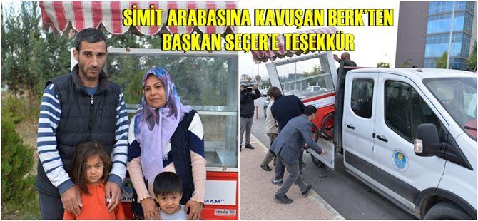 Büyükşehir, Süleyman Berk'e yeni bir simit arabası hediye etti