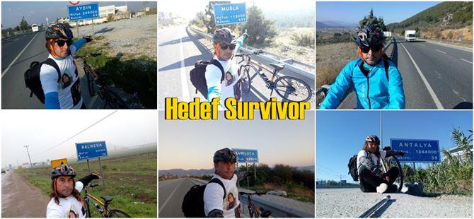 Lütfi Anbaroğlu, Survivor aşkına bisikletiyle 2 bin kilometre yol gitti!