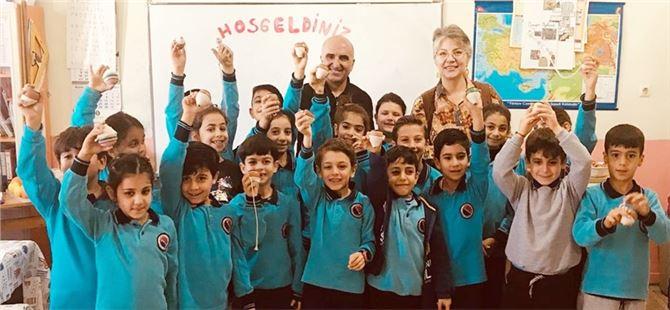 Ressam Karabulut'tan öğrencilere ziyaret