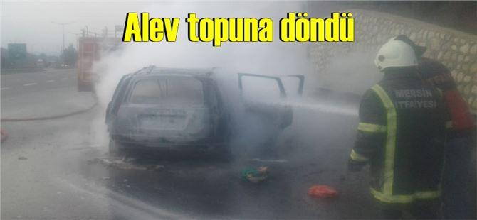 Tarsus TEM'de yine araç yangını, 3 kişi ölümden döndü!