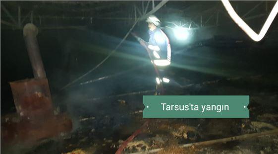 Mersin Tarsus'ta yılbaşı gecesi yangın