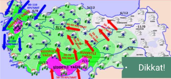 Tarsus, Mersin, Adana için şiddetli yağış uyarısı!