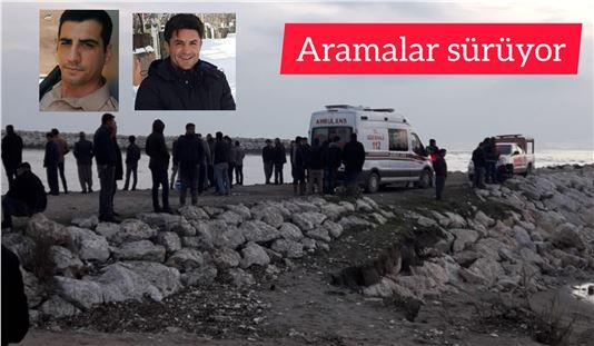 Tarsus'ta denizde kaybolan 2 bekçiyi arama çalışmaları sürüyor
