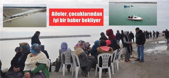 Tarsus'ta denizde kaybolan 2 bekçiden hala haber yok