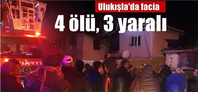 Niğde Ulukışla'da facia; ev yangınında 4 ölü, 3 yaralı