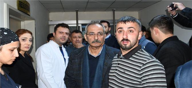 Başkan Bozdoğan, patlama sonrası hastaneyi ziyaret etti