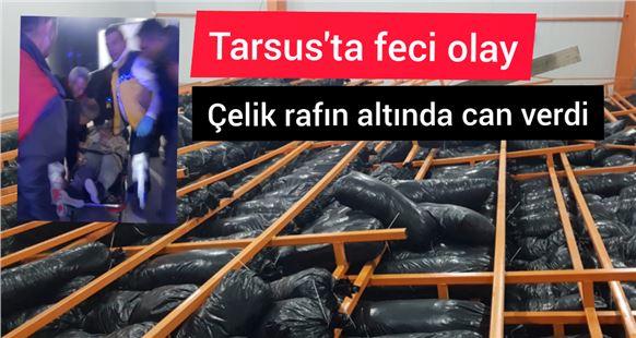 Tarsus'ta kültür mantarı üretim tesisinde raflar devrildi: 1 ölü