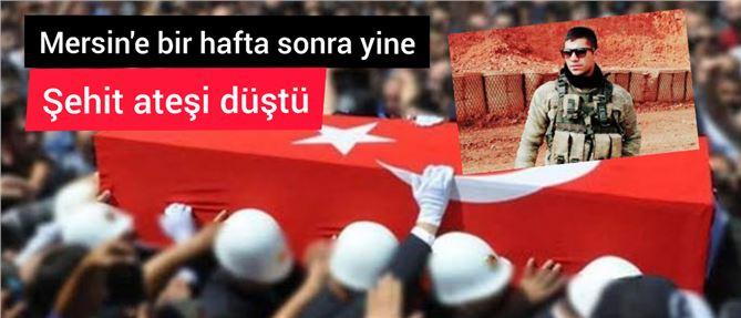 Mersinli asker Tolga Kaplan Şehit düştü