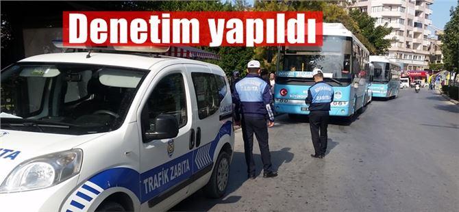 Büyükşehir Zabıta Ekiplerinden Tarsus'ta toplu taşıma araçlarına denetim