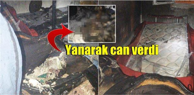 Mersin Tarsus'ta çıkan yangında 1 kişi yanarak can verdi