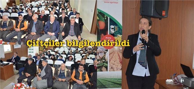 Tarsuslu çiftçilere TARSİM konusunda bilgilendirme toplantısı