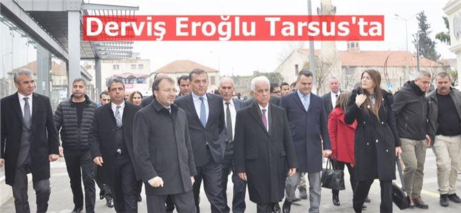 Derviş Eroğlu Tarsuıs'un tarihi yerlerini gezdi