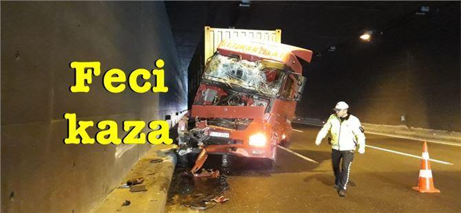 Tarsus'ta tünelde korkutan kaza: 1 yaralı