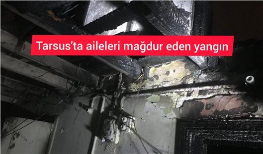 Tarsus kent merkezinde yangın