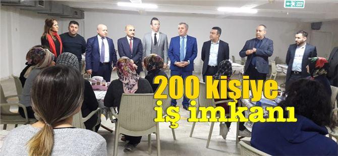 MEGİP kapsamında Tarsus'ta 200 kişiye iş imkanı sağlandı