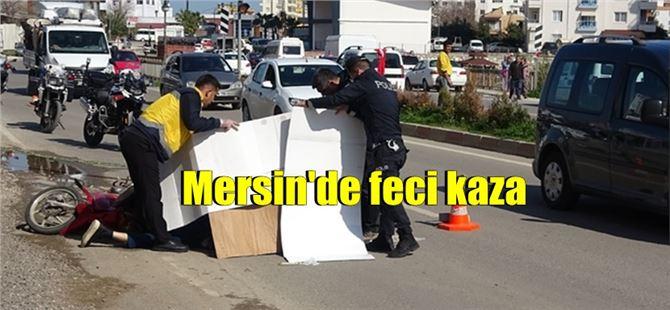 Mersin'de kamyonun altında kalan motosiklet sürücüsü öldü