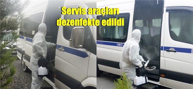 Tarsus Kara Bus Turizm Otobüs işletmesi tüm araçlarını dezenfekte etti
