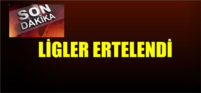 Koronavirüs nedeniyle Türkiye'de ligler ertelendi