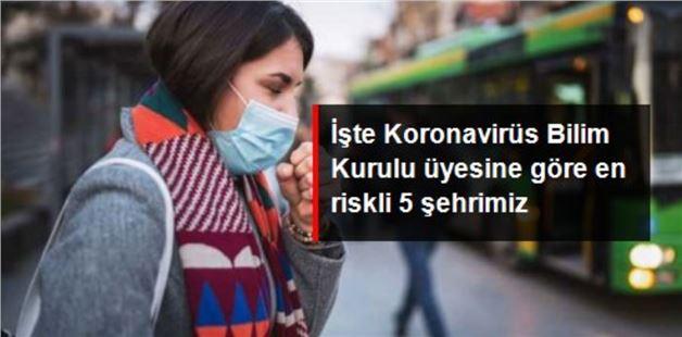 Koronavirūste en riskli 5 şehri açıkladı
