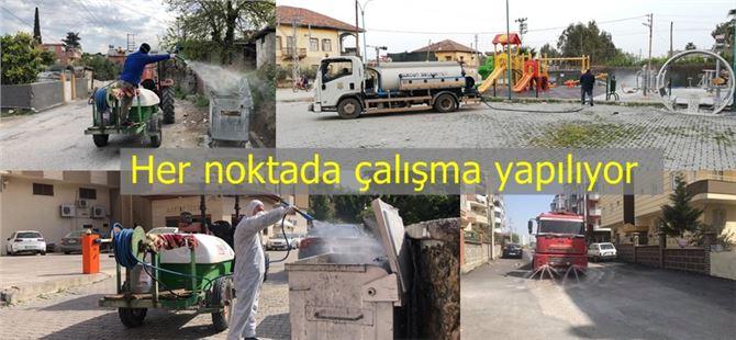 Tarsus'ta şehrin her noktasında ilaçlama yapıyor