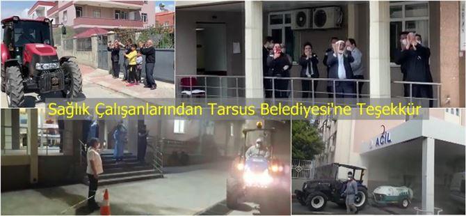 Sağlık Çalışanlarından Tarsus Belediyesi'ne Teşekkür
