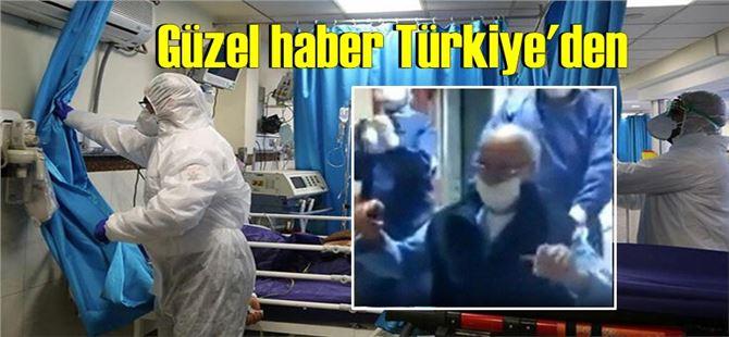 95 yaşında koronavirüsü yendi! Hastaneden oynayarak çıktı