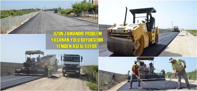 Büyükşehir'den Tarsus'un ova bölgesindeki grup yolunda asfaltlama çalışması
