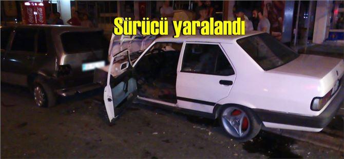 Tarsus'ta kontrolden çıkan araç park halindeki araçlara çarptı
