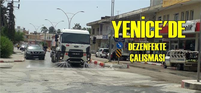 Yenice'de cadde ve sokaklar büyükşehir ekiplerince yıkandı