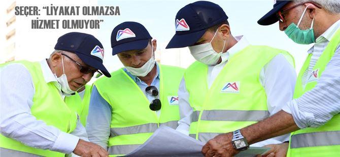 Başkan Seçer, 36. Cadde'de saha incelemesi yaptı