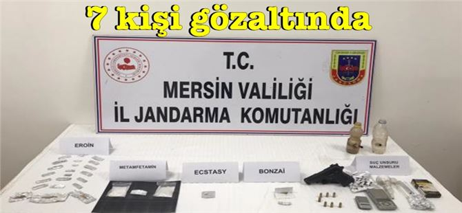 Mersin'de eroin operasyonu; Bonk ve Payp düzeneği bulundu