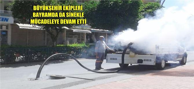 Büyükşehir'in Tarsus'ta ilaçlama çalışmaları durmaksızın sürüyor
