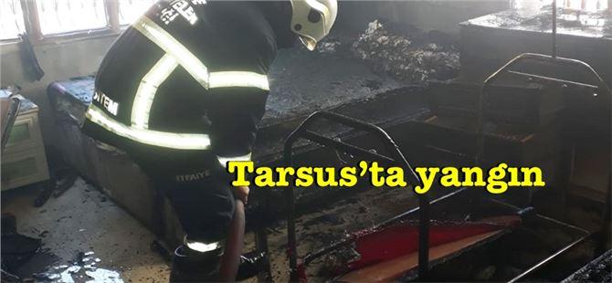 Tarsus'ta ev yangını
