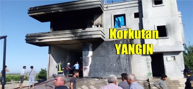 Mersin'de ev altındaki akaryakıt deposunda yangın!